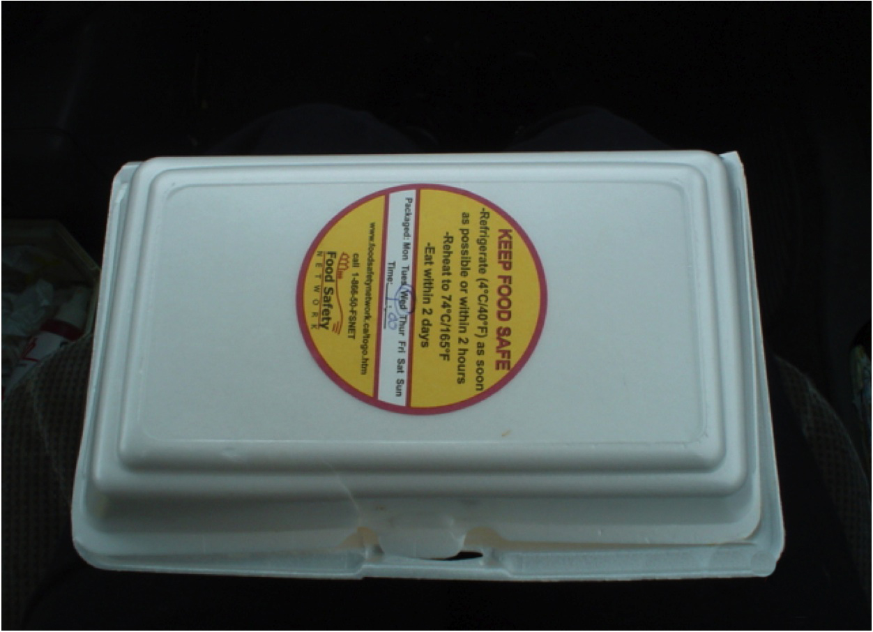 Safe food handling labels on take out containers can help - Stickers protection cuisine ...