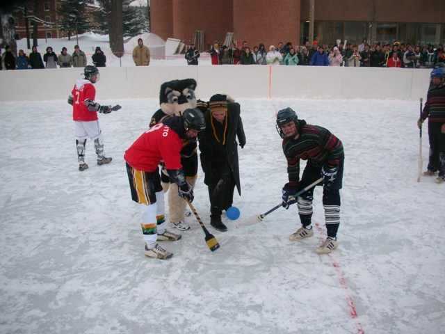 Broomball A Winter Sport Tradition At Michigan Tech