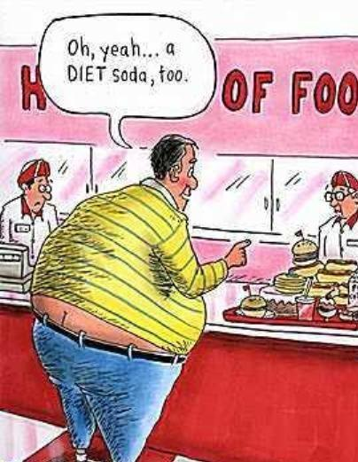 Food, Not Diet Soda, Makes You Fat
