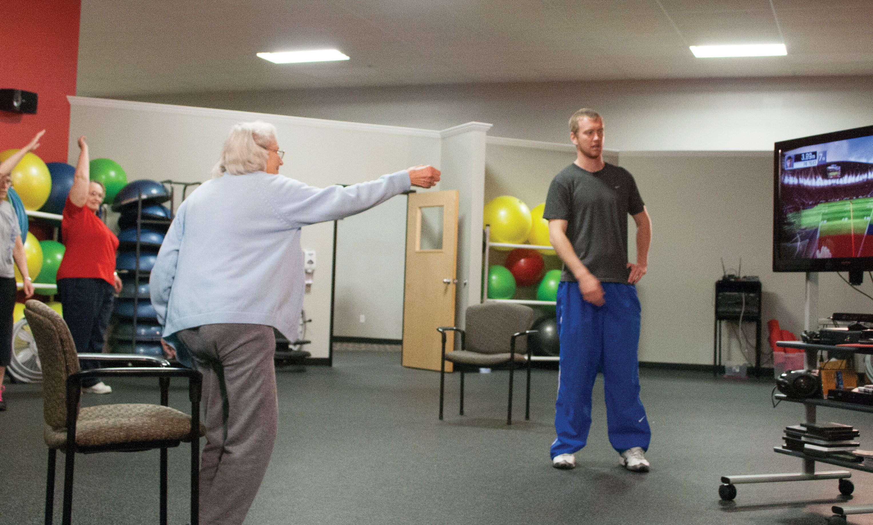 iowa state university researchers use video games to get older adults moving. Black Bedroom Furniture Sets. Home Design Ideas