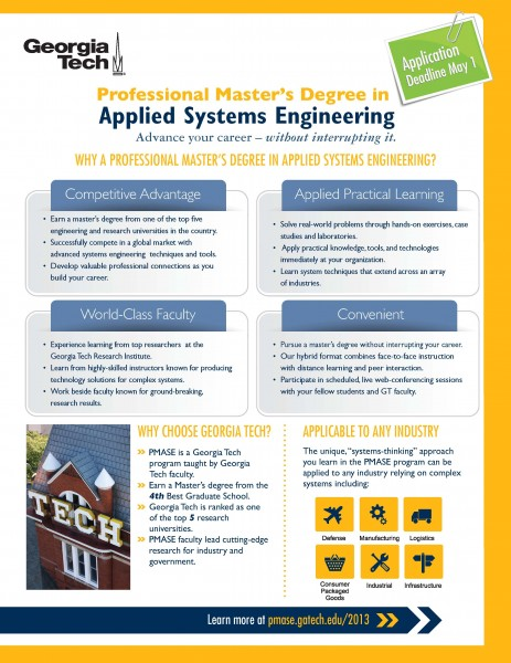 Georgia Tech To Hold Information Session About Professional Master S Degree In Applied Systems Engineering In Savannah