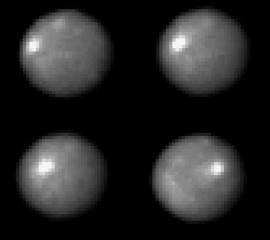 NASA's Hubble Space Telescope took these images of the asteroid 1 Ceres over a 2-hour and 20-minute span, the time it takes the Texas-sized object to complete...