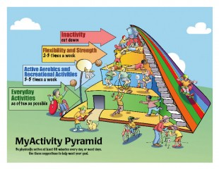 This colorful new chart shows kids what types of daily activities they should do to stay fit. It was created at the University of Missouri-Columbia.