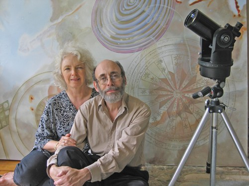 Astrophysicist Gregory Matloff with his wife, the artist C Bangs.
