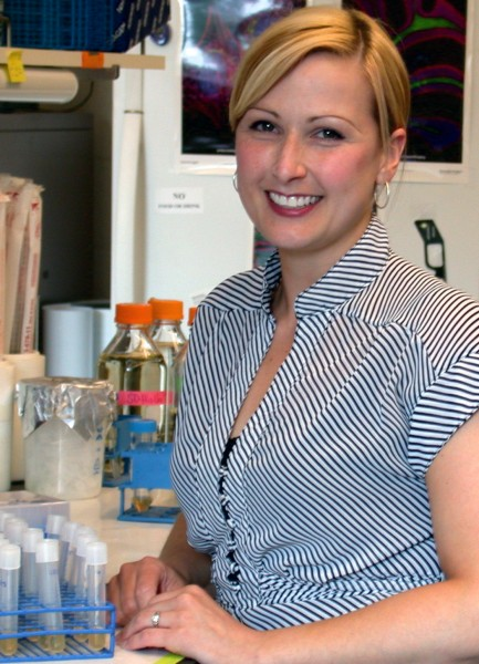 Jennifer E. Fox, NIH/NRSA postdoctoral fellow at the University of Oregon, has shown that many pesticides interfere with the ability of legumes to recruit soil bacteria needed to provide a natural fertilizer to crops.