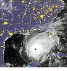 Hurricane in the Gulf of Mexico