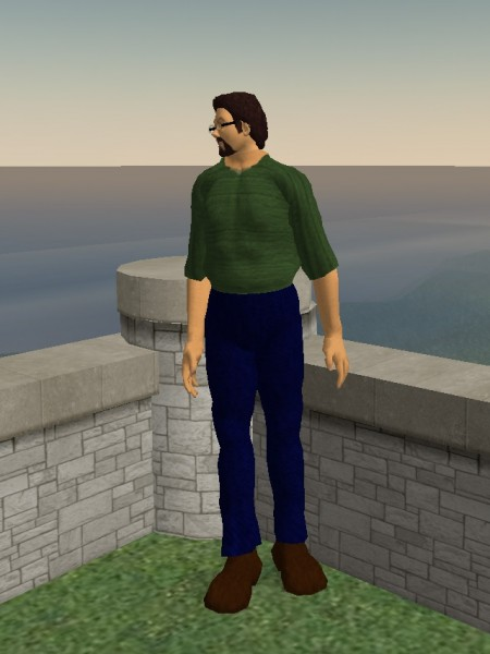 Screenshot of a Second Life character