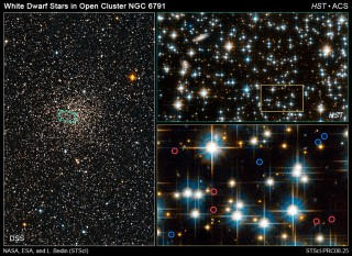 In studying the dimmest burned-out stars in globular star cluster NGC 6791, NASA's Hubble Space Telescope has uncovered a paradox: three different populations...