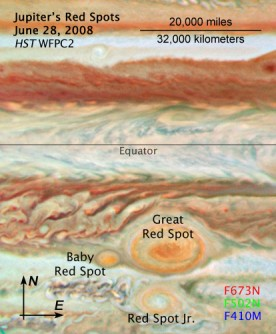 Newswise: Three Red Spots Mix It Up on Jupiter