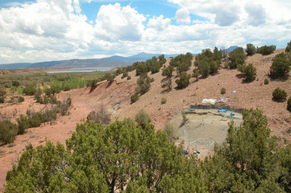 View of the Hayden Quarry at Ghost Ranch, New Mexico.