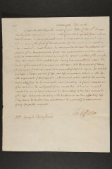 An 1808 letter written by Thomas Jefferson recently discovered at the University of Delaware.