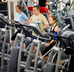 The energy produced by the elliptical machines in the Furman fitness center will feed into the building's power grid.