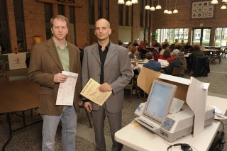 Iowa State political scientist Dave Peterson (left) and psychologist Zlatan Krizan (right) have both studied the behavior of voters before they cast their...