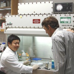 (L-R) Fang and St. Leger in their Maryland lab.