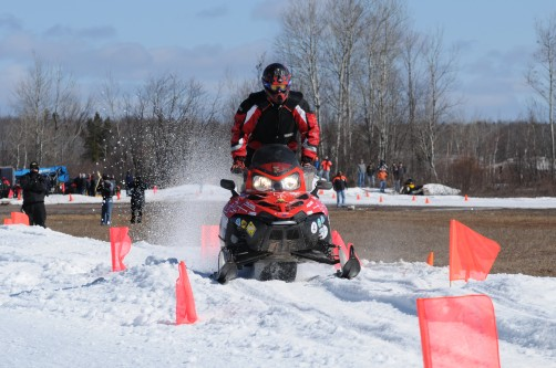 The University of Wisconsin-Madison's winning internal combustion entry in the 2010 SAE Clean Snowmobile Challenge.