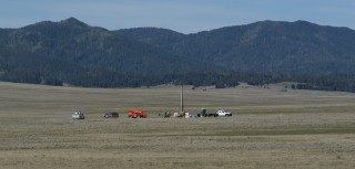 Valles Caldera, New Mexico, where sediment core samples were extracted for the study.
