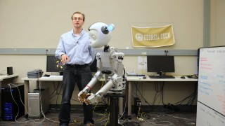 Georgia Tech Ph.D. student Michael Gielniak is working to allow robots like Simon to move in a way that's similar to humans, so that people will be comfortable...
