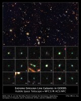 Newswise: Hubble Uncovers Tiny Galaxies Bursting with Star Birth in Early Universe