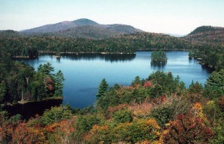 Arbutus Lake at SUNY-ESF's Newcomb campus in the Adirondacks.