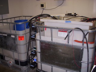 "New ""microbial fuel cell"" cleans municipal sewage and generates electricity at the same time."