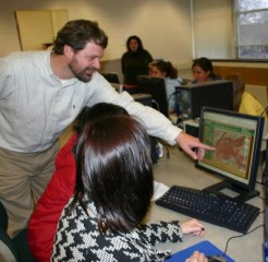 Instructors set up a virtual environment for a soil study at University of Nebraska
