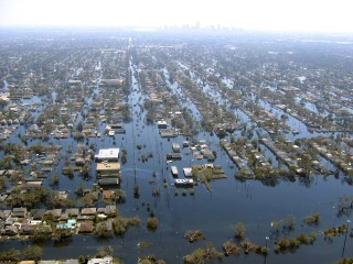 When the levees were breached in New Orleans during Hurricane Katrina, the Ninth Ward was inundated.
