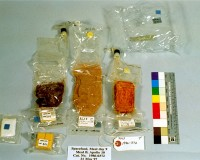 Apollo 10 Space Meal, 1969  This photo shows John Young's Meal B lunch for mission Day 9. The mission only lasted eight days—he did not eat this food,...