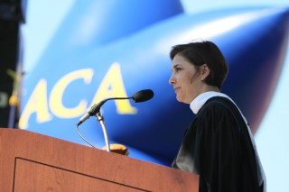 Amy Kule, producer of Macy's Thanksgiving Day Parade, was the Ithaca College Commencement speaker on May 20.