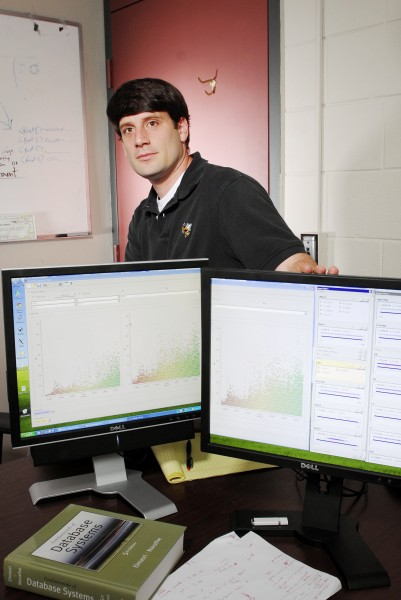 GTRI research scientist Edward Clarkson leads development of the data analysis and visualization component of GTRI's Test Matrix Tool. Here he displays screens that show some of the capabilities of the new data-visualization tool.