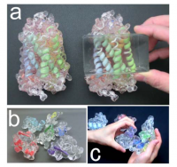 The soft and transparent protein models will enable researchers to quickly and collaboratively see, touch, and test ideas about molecular interactions...