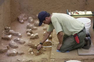Excavation of Clovis artifacts at UofSC's Topper site, located in Allendale, S.C.