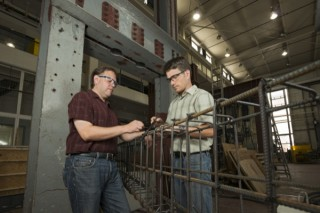ik Thostenson (left) and Thomas Schumacher in UD's Center for Composite Materials have received a three-year $300,000 grant to investigate the use of carbon...
