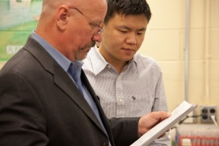 Millsaps College Professor of Chemistry Timothy Ward, Ph.D., and Research Fellow Jiyan Gu, Ph.D., study information that shows chemical residues in prehistoric...