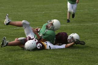 Concussions are a serious hazard in football and hockey.