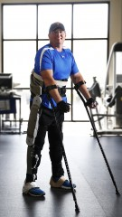 Brian Shaffer, who is paralyzed from the waist down, has been acting as a test subject to help Vanderbilt engineers develop the new exoskeleton that allows...