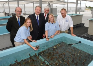 From Left to Right: back row - Richard E. Dodge, Ph.D.; dean of Nova Southeastern University's Oceanographic Center and executive director of NSU's National...