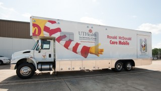 The Ronald McDonald Care Mobile, in partnership with UTHealth