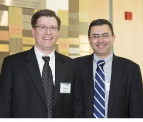 Bruce Anderson, PharmD, DABAT, (left) director of operations for the MPC, with Joshua Sharfstein, MD, secretary of the Maryland Department of Health and Mental...