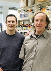 Adam Hughes, Ph.D., and Dan Gottschling, Ph.D., of the Basic Sciences Division at Fred Hutchinson Cancer Research Center.
