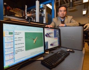 Iowa State University's Hui Hu is studying dragonflies and bats to understand the aerodynamics and physics of small-scale flight.