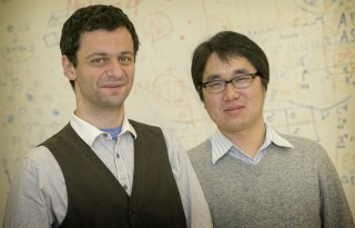 Professors Artem R. Oganov (left) and Xiang-Feng Zhou (right), theoretical crystallographers in the Department of Geosciences and Department of Physics...