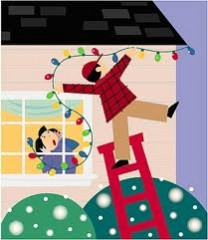 Ladders and lights can be a dangerous combination during the holidays, says Thomas Esposito, MD, Loyola University Health System.