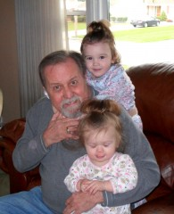 After a double lung transplant, Rich Smeberg is providing full-time daycare to his granddaughters Kara and Audra.