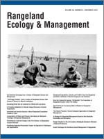 Rangeland Ecology & Management Volume 65 Issue 6