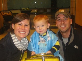 Courtenay Zurenko with her husband, Joe, and son, Riley