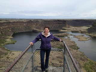 Deanne Rogers, Assistant Professor, Department of Geosciences at Stony Brook University, is pictured at the Columbia River Basalts in Washington State.