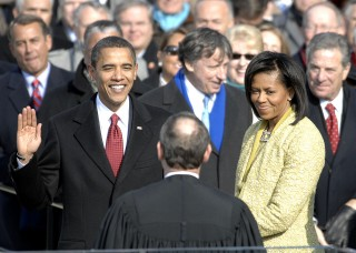 Barack Obama took the oath of office for his first term as the