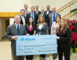 Members of the Allstate New Jersey team at The Cancer Institute of New Jersey recently.