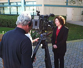 Linda Hill, MD, MPH, leader of the TREDS program, shares valuable driving tips with the 10 News crew.
