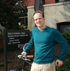 An avid cyclist, Ralph Buehler typically bicycles to his Virginia Tech office in Old Town Alexandria.